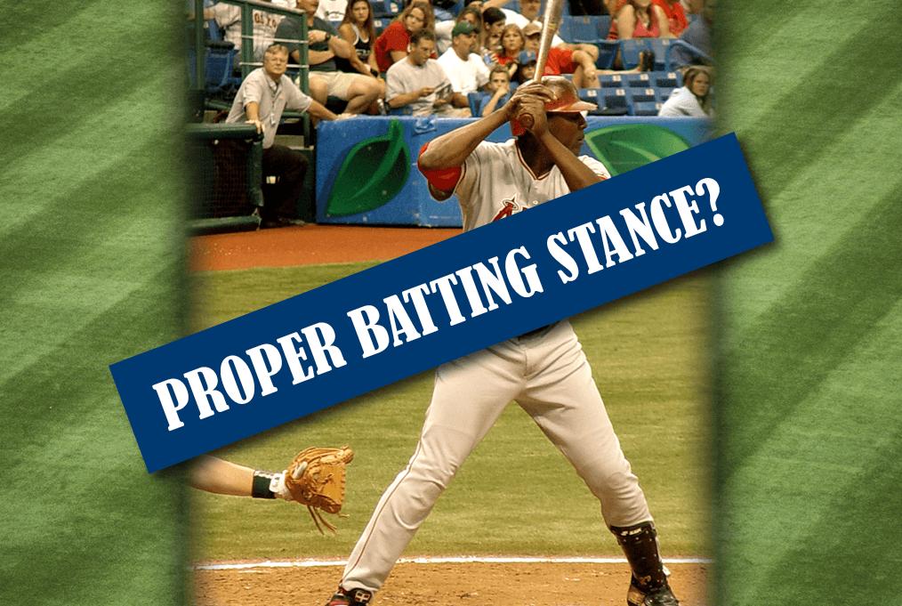 Proper Batting Stance